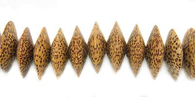 Palmwood 20mm saucer bead