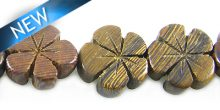 Robles wood flower shape 15mm
