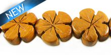 Bayong wood flower shape 15mm