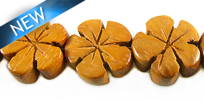 Bayong wooden flower 15mm bead
