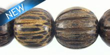 Old palmwood squash design 15mm bead