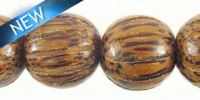 Palwood squash design 15mm bead
