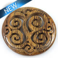 Wooden carved robles 50mm pendant