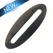 Flat oval tiger ebony