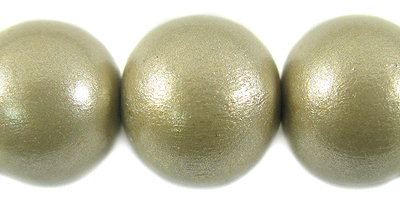 20mm metallic nude wooden bead