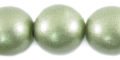 20mm metallica green wooden bead