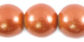 20mm metallic copper wooden bead