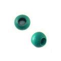 Blue green rondelle wooden bead
