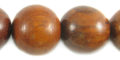 Bayong wood round 20mm beads
