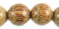 15mm round palmwood bead