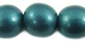 White wood 15mm painted metallic turquoise