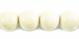 White wood round 10mm beads