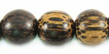 Old palmwood 12mm round beads