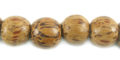 Palmwood wooden 10mm round bead