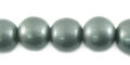 Metallic grey wooden 10mm bead