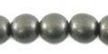 Metallic charcoal wooden 10mm bead