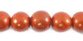 Metallic copper wooden 10mm bead