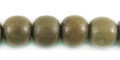 Gray wooden round 10mm bead