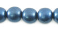 Metallic blue wood wholesale beads