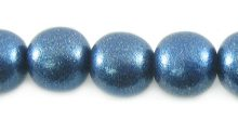 Whitewood round 10mm painted metallic blue