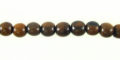 Tiger ebony wood beads 5mm round