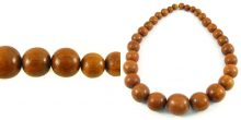 Bayong wood graduated round Beads 7mm