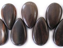 Tigerwood ebony wood side-drop wholesale beads