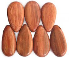 Bayong wood side drilled flat teardrop