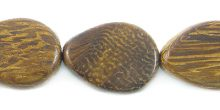 Robles wood beads teardrop 12mm
