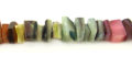 Hammershell crazycut beads multicolor dyed