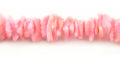 Fragum shell or white clam shell crazycut beads dyed pink