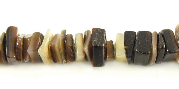 Crazycut brownlip shell beads