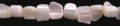 Mother of pearl nugget beads white
