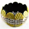 Elastic pectin leteratus bracelet yellow