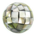 Blacklip shell round blocking beads 25mm