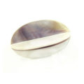 Hammershell dyed purple 4-sided 36mm bead