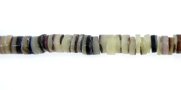 Hammer shell heishi 4-5mm