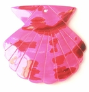 Large seashell pink spotted wholesale pendant