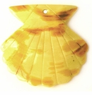 large seashell yellow spotted wholesale pendant