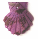 Small seashell purple wholesale pendant