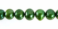 Pearl Potato Forest Green 6x7mm wholesale beads