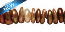 Pealr cornflakes multicolor center drill wholesale beads