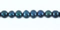 4-5mm potato pearl forest green wholesale beads