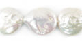 Coin Pearls White 12-13mm wholesale beads