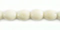 White limestone coral 7mm rice beads