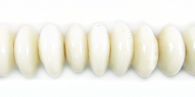White limestone 10mm saucer wholesale beads