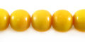 Yellow limestone round 10mm wholesale beads
