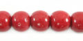 Limestone coral round 10mm red