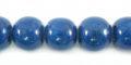 Dark blue limestone round 10mm wholesale beads