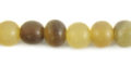 Caranail round 8mm natural beads